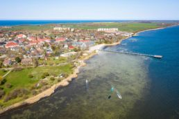 Kiten auf Rügen am Spot Dranske