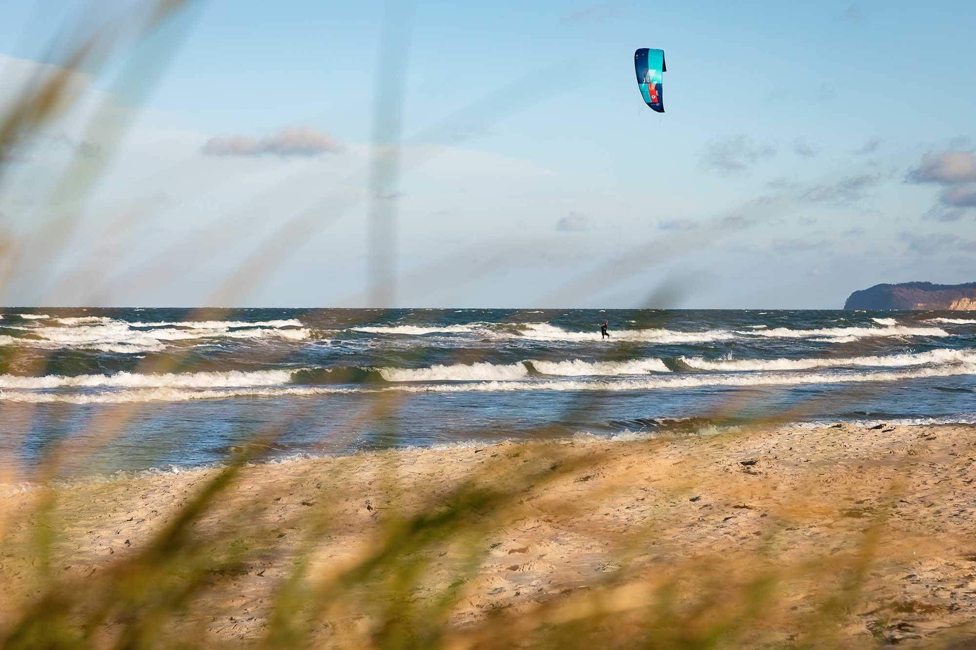 Kiten auf Rügen am Spot Prora