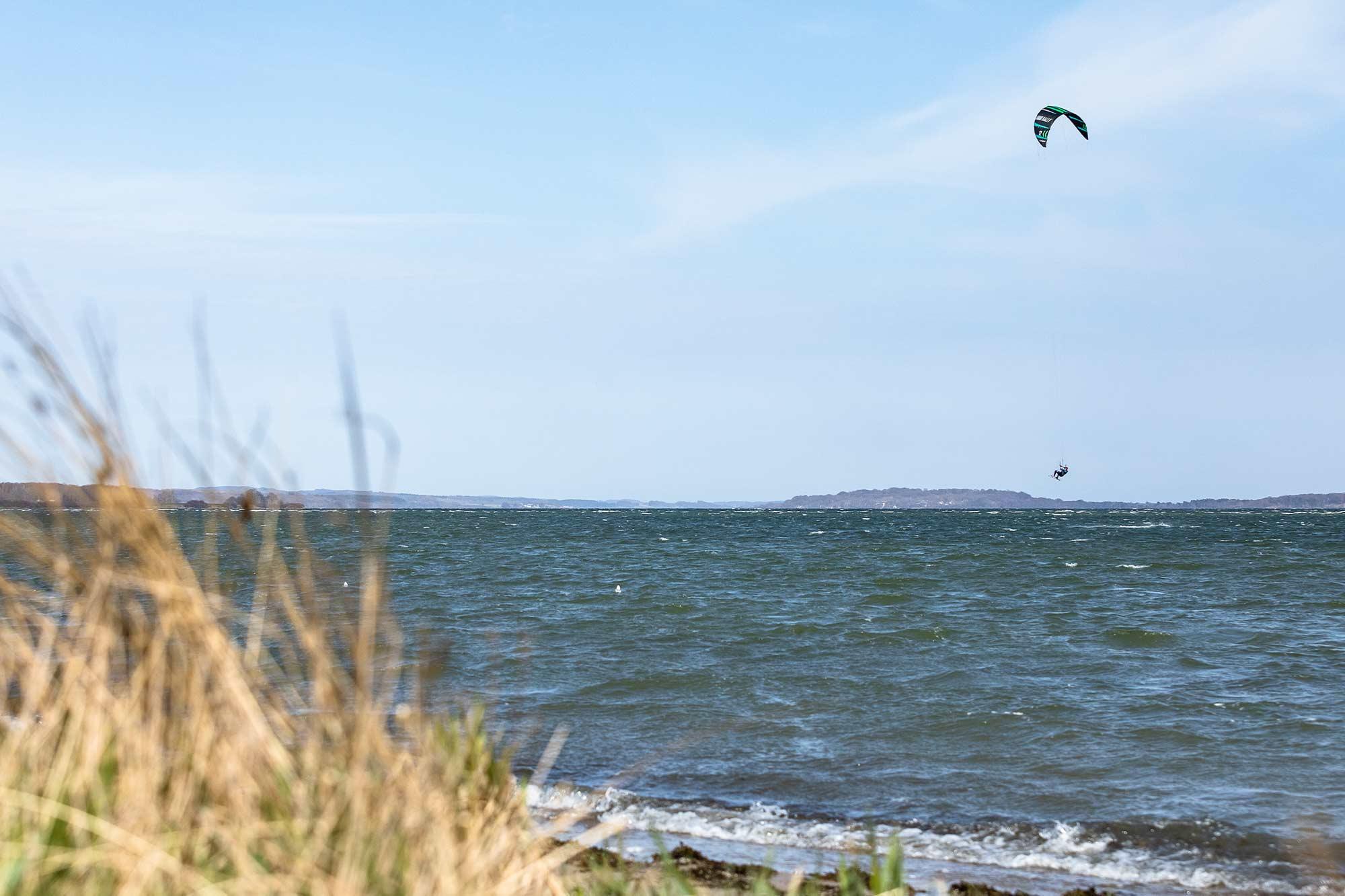 Kiten auf Rügen am Spot Rosengarten
