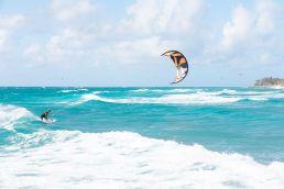 Kiten auf Barbados