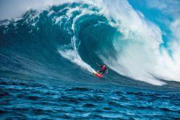 Kiter in der Welle Jaws
