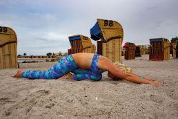 Yoga für Kiter - die Taube