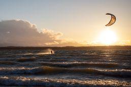 Kiten am Starnberger See