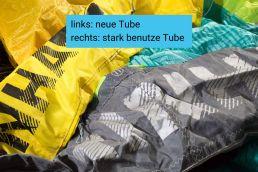 Neue vs stark gebrauchte Tube