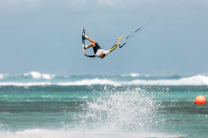 Liam Whaley beim Freestyle Finale der GKA in Mauritius Bel Hombre