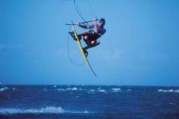 Ein Kiter in den 90er Jahren