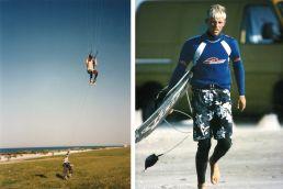 Norman Falkenberg kitet in den 90er Jahren