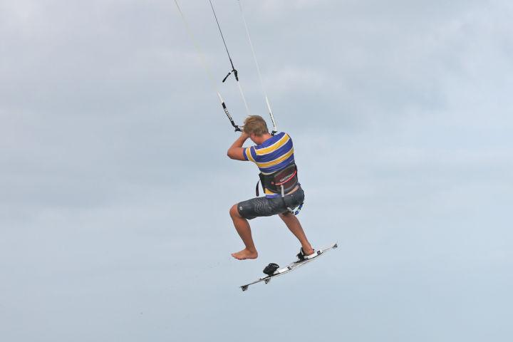 Notlandung beim Kiten
