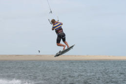 Notlandung beim Kiten mit One-Foot-Landung