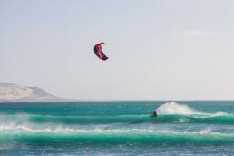 Ein Kiter in Boa Vista