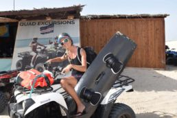 Kiterin Almut Otto auf Quad-Safari in Boa Vista