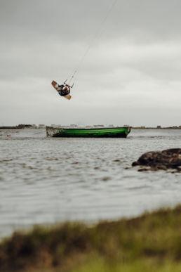 Kiten auf der schottischen Insel Benbecula