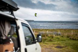 Der Kite-Spot North Uist in Schottland