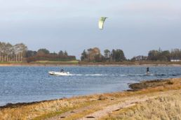 Kiter am Spot Hoved auf Fyn