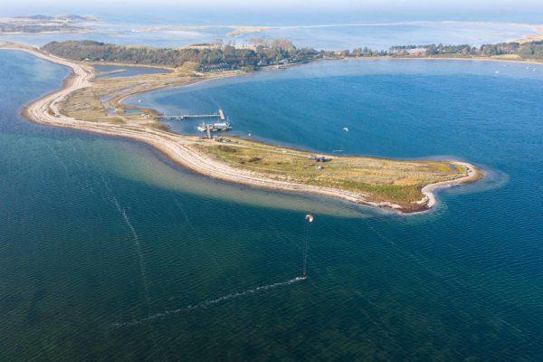 Kiter auf der dänischen Insel Fyn