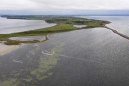 Luftaufnahme vom Spot X auf der dänischen Insel Fyn