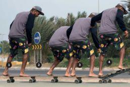 Airton Cozzolino zeigt den Straples-Basissprung auf einem Skateboard