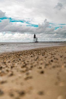 Blick auf den Strand von Darum