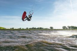 Kiter am Spot bei Otterndorf