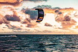 Kiten am Spot Wremen an der Nordsee