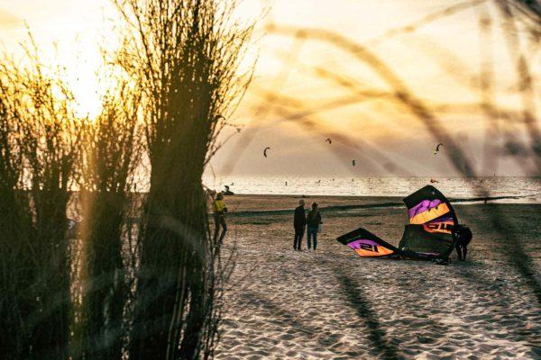Kite am Stand von Kugelbake