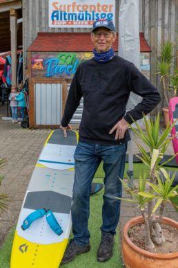 Willi Rupp, Betreiber des Surfcenter Altmühlsee