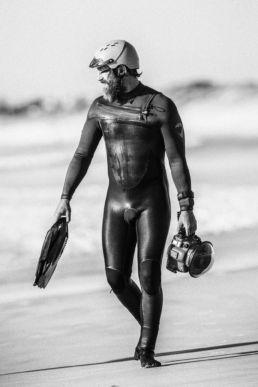 Der Fotograf Idwer von der Heide am Strand