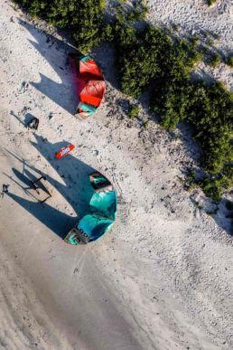 Luftaufnahme von einem Strand in Norwegen