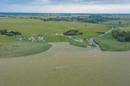 Luftaufnahme vom Saale Booden an der Ostsee