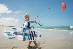 Sonja Bunte beim Kiten