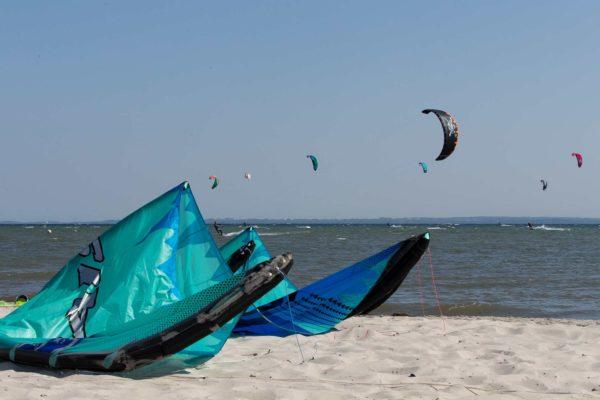 Kiter am Strand von Pelzerhaken