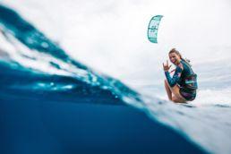 Die niederländische Pro-Kiterin Jalou Langeree in Action